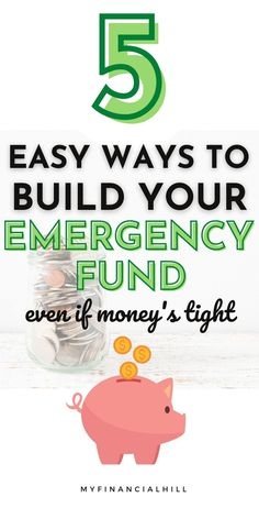 We never know what tomorrow brings. That's why having an emergency fund is so important. There's super simple ways to build your emergency fund fast. Check out these 5 easy ways to get your savings plan started. You'll also find out how much to save for your emergency fund. Some people save up 3-6 months worth of emergencies but you can get started with your first month. Saving up money can be super easy if you just know how. Emergency Fund Savings Plan | How to Build an Emergency Fund… Saving Money Chart, Money Saving Mom, Best Money Saving Tips, Ways To Save Money, Money Tips, Pay Debt, Savings Plan, Budgeting Finances, Financial Goals