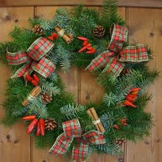 Recycle Tartan wreathes from Christmas to decorate the house. | 24 Ways To Have The Ultimate Burns Night Supper