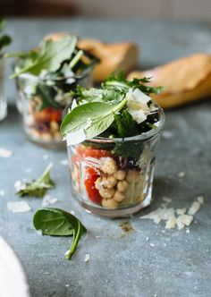 Mediterranean Kale Salad Jars