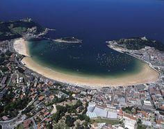 Vista aérea de San Sebastián,es una de las ciudades mas bellas del mundo...