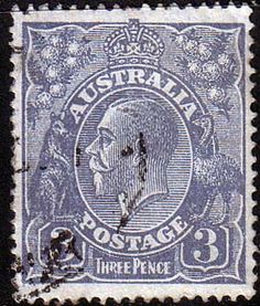 Australia 1924 SG 79 King George V Head Fine Used Scott 30 Other Australian Stamps HERE