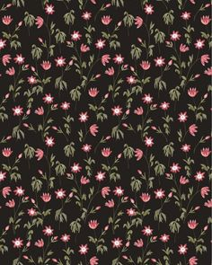 Dark botanical pattern by chotnelle