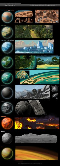 """Great reference for Environment """"biome design"""""""