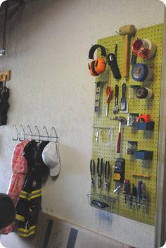 Garage Organization  Pinned for www.diystoragesolutions.com Garage Closet, Garage Laundry, Garage Shed, Garage Workshop, Garage Storage, Garage Organisation, Shop Organization, Organization Ideas, Shed Storage Solutions