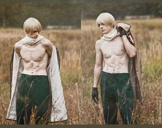 Russia in Axis Powers: Hetalia cosplay>>> Holy hamburgers!!  Can this be incorporated in the show I wanna see Russia with a six pack