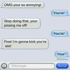Grammar trolls are always entertaining