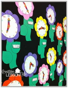 Flowers and Minutes Past the Hour! Creative Lesson Cafe