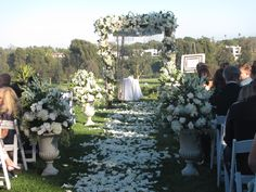 Chuppah Ceremony  Flowers by Blossom Floral, Inc