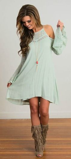 Lace Dresss. Hippy Dress. Boho Style