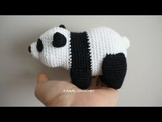 Panda Amigurumi Crochet Tutorial Part 2 - YouTube
