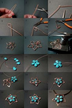 DIY your photo charms, 100% compatible with Pandora bracelets. Make your gifts special. Pendant Necklace DIY Tutorial: Flower Stones and Wire based