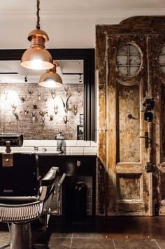 Barberian Academy & Barber Shop - Wnętrze - Zainspiruj się z Foorni.pl
