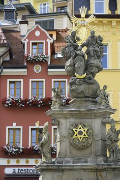 Column of the Trinity. Trinidad, Czech Republic, Cities, Landscapes, Places, Columns, Scenery, Paisajes, Bohemia