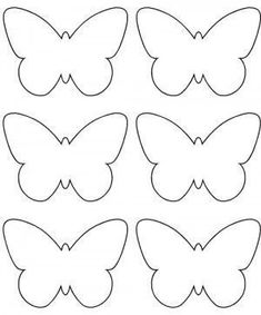 pdf little butterfly deco Butterfly Template, Butterfly Crafts, Flower Template, Flower Crafts, Butterfly Felt, Felt Crafts, Diy And Crafts, Crafts For Kids, Paper Crafts