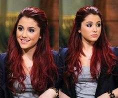 Ariana Grande red hair. my favorite on her by far.