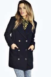 Hollie Double Breasted Wool Mix Twill Coat, From #Boohoo. Use promo codes and discount codes for discounts.
