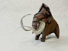Paper art - mamut