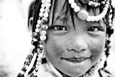 Tibetan Girl by falsalama