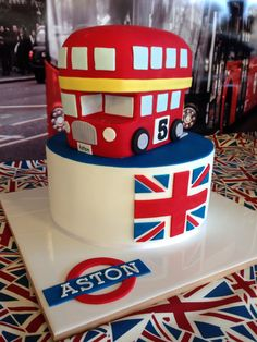 Well the professionals actually made this one, but how cool. London double decker bus cake for British theme party (inc a ride on a double decker bus).