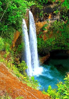 ✯ Wailua Falls - Kauai, Hawaii, worth seeing in person. Places Around The World, Oh The Places You'll Go, Places To Travel, Places To Visit, Around The Worlds, Dream Vacations, Vacation Spots, Beautiful World, Beautiful Places