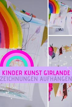 Kinderzeichnungen Aufhängen: Die Kinderkunstgirlande