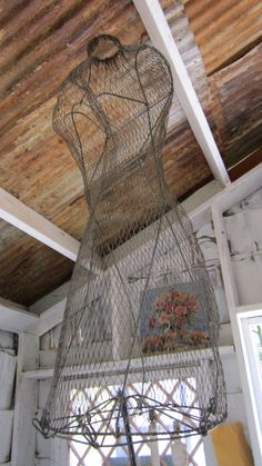Vintage wire dress form by whitecottageinhills on Etsy, $95.00