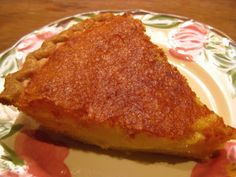The Beehive Cottage: Buttermilk Pie! My Favorite!