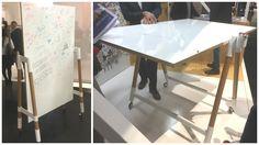 IdeaPaint folding whiteboard table solution won many hearts at Orgatec 2016. #Orgatec2016