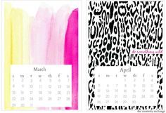 Free 2015 printable desktop calendar.   The Creativity Exchange
