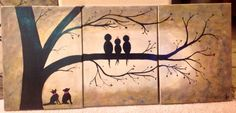 Customized Family Bird Painting With Pets  by ColoradoColors, $99.00