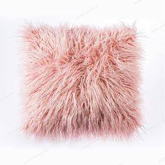OJIA Deluxe Home Decorative Super Soft Plush Mongolian Faux Fur Throw Pillow Cover Cushion Case x 18 Inch, Pink) - Home Decor Pink Throw Pillows, Toss Pillows, Throw Pillow Covers, Accent Pillows, Decor Pillows, Pillows For Bed, Pink And Grey Cushions, Pink Fur Pillow, Blush Pillows