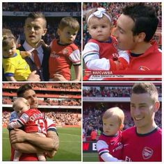 Arsenal players and their kids