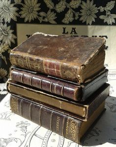 old books. color.