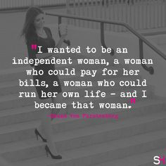 Be an independent woman! from DVF. Classy Women Quotes, Independent Women Quotes, Building An Empire, Wednesday Wisdom, Happy Women, Powerful Women, Woman Quotes, Strong Women, Girl Power