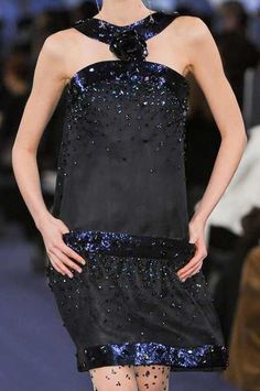 Chanel  Spring 2013...I want this dress...luv it.  It's bold but still flirty...check it out.