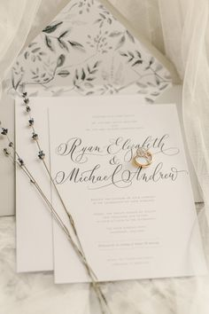 Romantic neutral hued wedding invites: Photography : CJK Visuals Read More on SMP: http://www.stylemepretty.com/little-black-book-blog/2016/02/22/romantic-english-garden-spring-wedding/