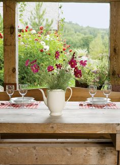 Have a lovely meal on the porch!  savingsandisanity