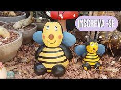 ABELHA DE CIMENTO PARA DECORAR JARDIM (passo a passo) - YouTube
