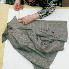 Copying a favorite article of clothing - the copying process involves pinning garment sections flat to a paper-covered padded surface, and tracing each seam by poking through the seam and the paper beneath with a needle, or next to it with a pencil if it's on an edge, leaving a row of holes in the paper.
