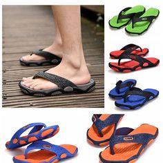 06473622b Men Casual 1Pair Shoes Beach Sandals Thong Slippers Flip Flop Outdoor
