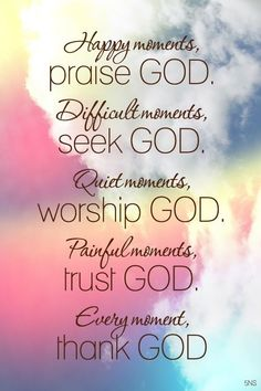God is always the answer . . . Praise Him for answered prayers . . .