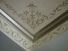 Stenciled ceiling by SpecFin Designs