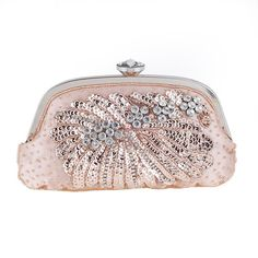 Women Luxury Sachet ShapeCrystal Evening Bag Flower Pattern Dinner Party Purse Wedding Clutch Handbag