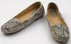 COLE HAAN NIke Air 9.5 AA Narrow Genuine Snakeskin Leather Flats Loafer #ColeHaan #LoafersMoccasins