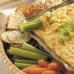 No-Bones Chicken Wing Dip Recipe from Taste of Home -- shared by Shirley Gawlik of Oakfield, New York