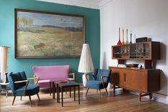 Schönes Wohnzimmer in zentraler Berliner 3-Zimmer-Wohnung in Prenzlauer Berg.  #Berlin #PrenzlauerBerg #livingroom