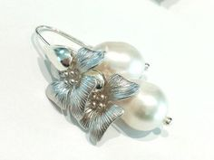 ♥Charming-Pearl♥ Ohrringe in Silber-Weiss | Ansalia.ch