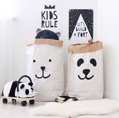 High-capacity Environmental Kraft Paper Moving Box Storage Containers Toys Cloth Storage Bins