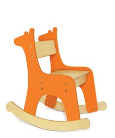 "Take a look at this Giraffe Rocking Chair by P'kolino on #zulily today! I really need to get Audrey her own little rocking chair so she can ""bock-a-bye"" her babies...."