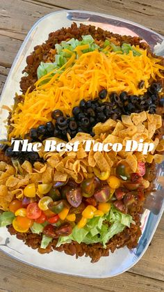 Best Taco Dip Recipe, Dip Recipes, Cooking Recipes, Delicious Recipes, Appetizer Dips, Appetizer Recipes, Feeding A Crowd, Game Day Food, Beef Dishes
